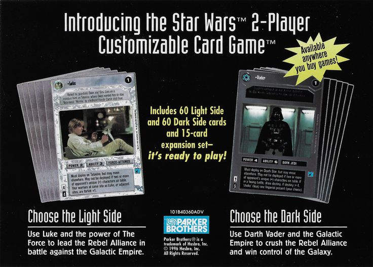 PUG CCG STAR WARS edition 2 player CGG Premiere