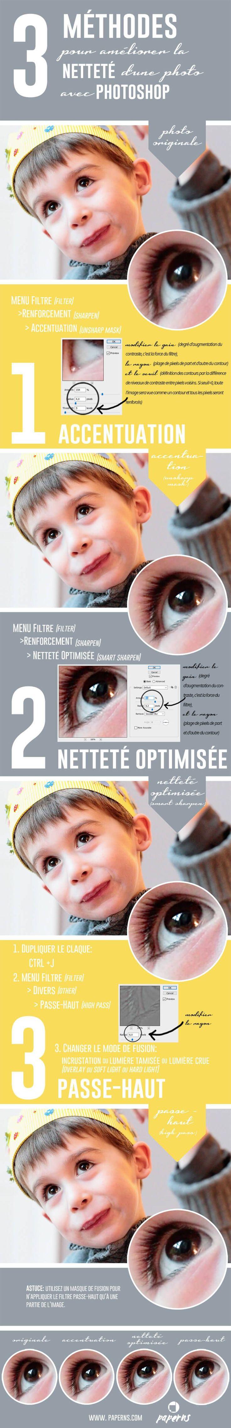 Découvrez 3 méthodes pour améliorer facilement et rapidement la netteté de vos photos avec photoshop