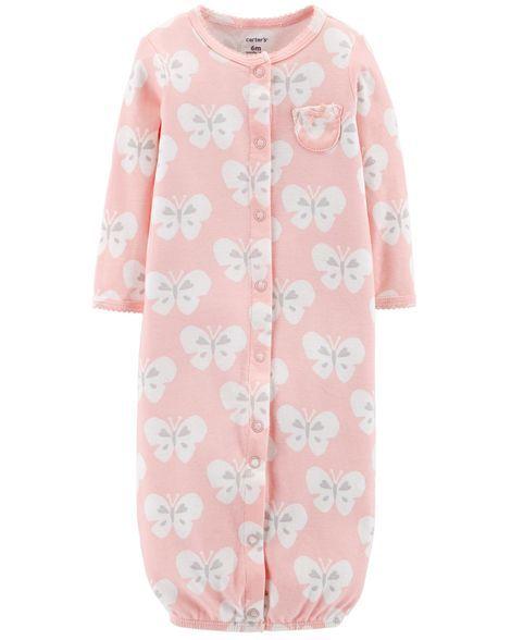 f2918ed5ac74 3-Piece Babysoft Converter Gown Set | Matthyew&Rileigh | Carters baby girl,  Cotton hat, Printed cotton