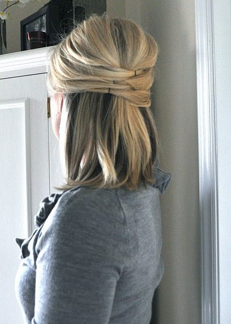 Hair style- Classy half up do...I did this for a wedding and got a TON of compliments. Super easy too!