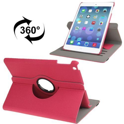 Roze draaibare denim leren hoes voor je Apple Ipad Air