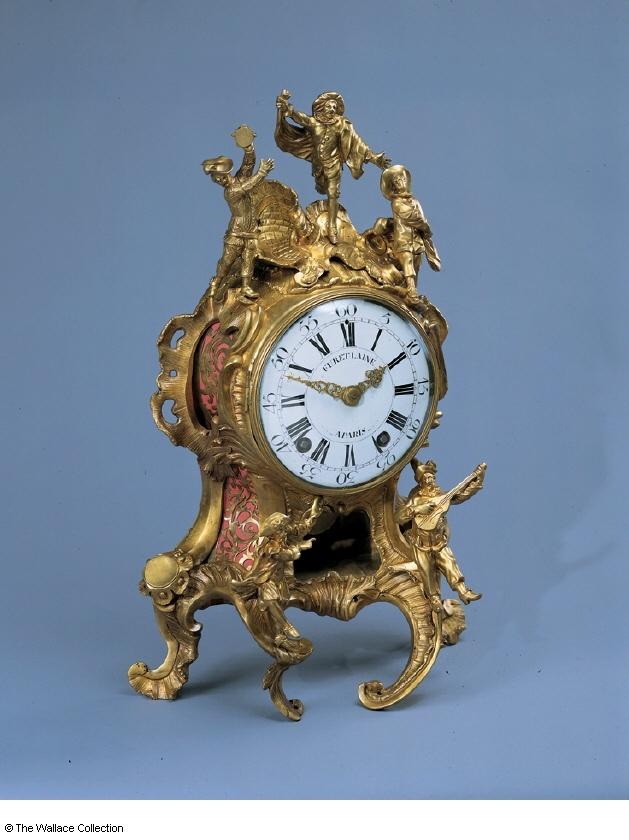 Mantel clock  Charles Cressent (1685 - 1768)  Probably Jacques Furet (active between: c. 1710), Movement Maker  France  c. 1745 - c. 1750