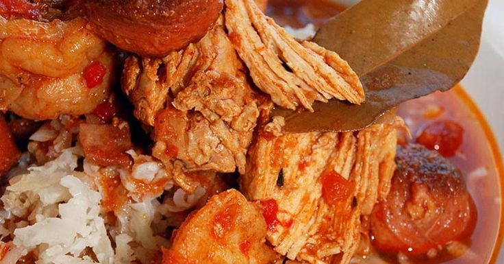 Ham, Andouille, Shrimp and Chicken Jambalaya Recipe - low carb - Serve ...