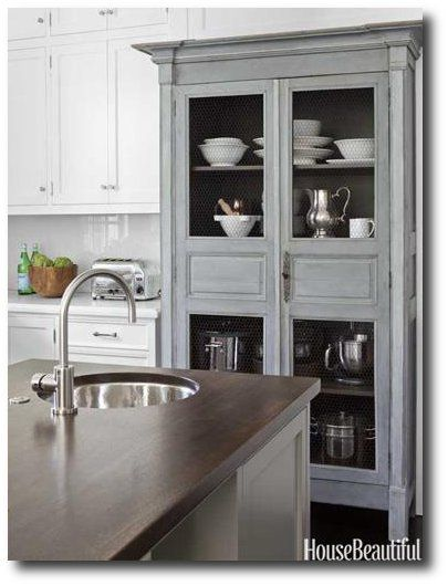 House Beautiful// colour of cabinet