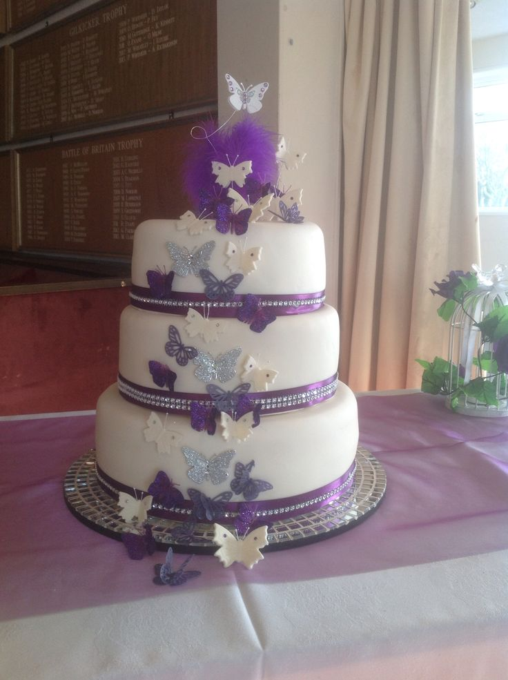 17 Best Images About Purple Lilac Wedding Cakes On Pinterest