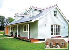 What to do with a 1960s bungalow. Amazing what can be achieved, though it was expensive.