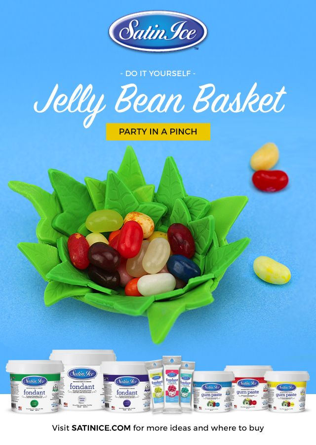 So much sweeter than digging through Easter grass for that last jellybean... Satin Ice Fondant makes these tutorials easy and fun for the whole family!