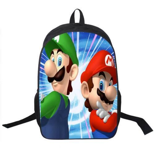 [Visit to Buy] 2016 Hot Sale Children's 3D Cartoon Backpack Cool Super Mario School Backpack for Kids Mario Bros Shoulder Bags for Boys #Advertisement