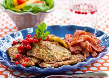 Gör rätten glutenfri genom att använda majsmjöl i stället för dinkel- eller vetemjöl.