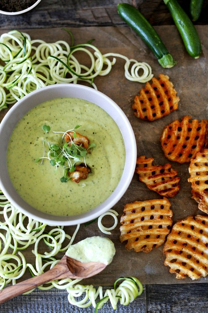 zucchini & edamame soup from circahappy.com