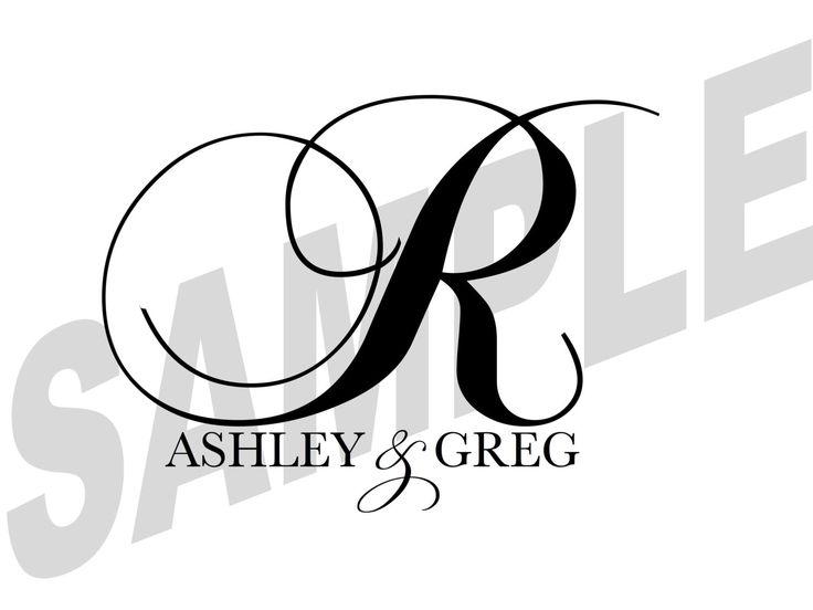 Custom Designed Digital Printable Wedding Monogram Gobo Design by WeddingsByJamie on Etsy https://www.etsy.com/listing/200830535/custom-designed-digital-printable