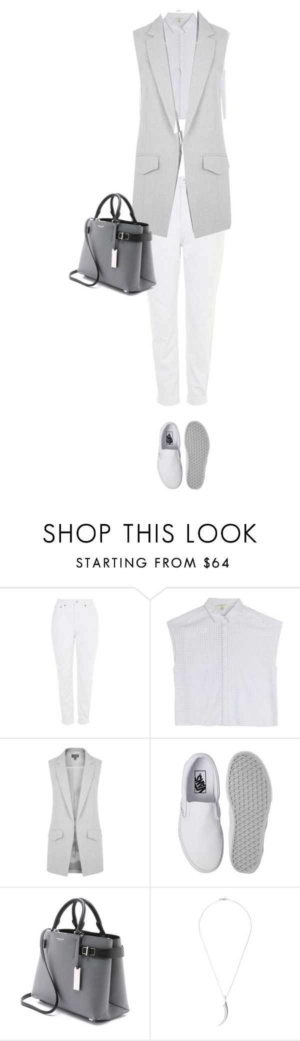 """Untitled #689"" by vibestokill ❤ liked on Polyvore featuring Topshop, rag & bone, Vans, Michael Kors, Shaun Leane, women's clothing, women's fashion, women, female and woman"