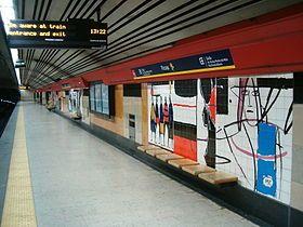 Martins Correia | Estação / Station Picoas | Metropolitano de Lisboa / Lisbon Underground | 1995 #Azulejo #MartinsCorreia #MetroDeLisboa