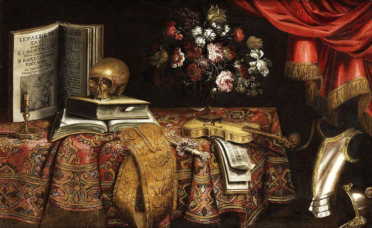 Pierfrancesco Cittadini (Italian, 1616–1681) - Vanitas still life, 1861