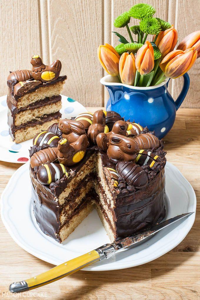 ... chocolate buttercream, chocolate ganache and hazelnut pralines topping