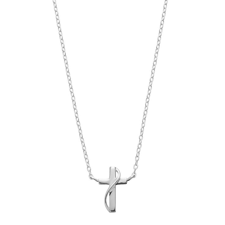 love this life Sterling Silver Cross Necklace, Women's