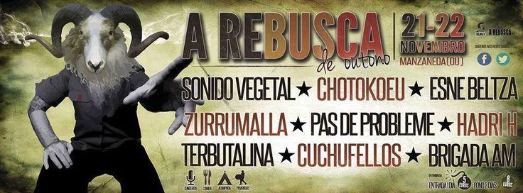 Festival A Rebusca en Manzaneda (Ourense) Music música concerto concierto Sonido Vegetal + Chotokoeu + Esne Beltza + Zurrumalla + Pas de Probleme + Hadri H + Terbutalina + Cuchufellos + Brigada AM