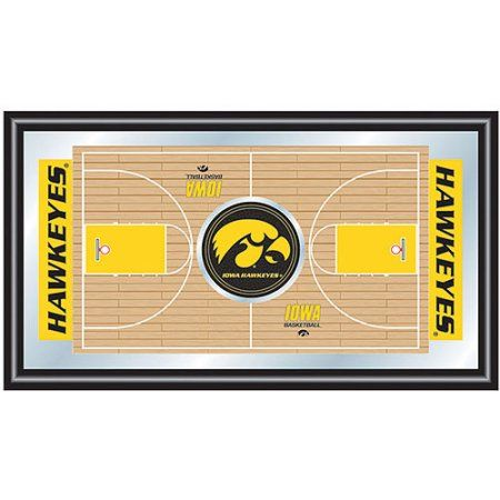 University of Iowa Basketball Framed Full Court Mirror, Gray