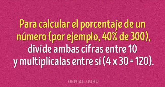 10Sencillos trucos matemáticos