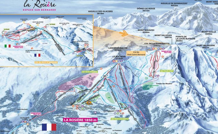 Plan des Pistes La Rosière.  http://www.larosiere.net/