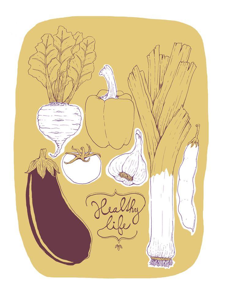 Vegetable poster by Dolynda.cz