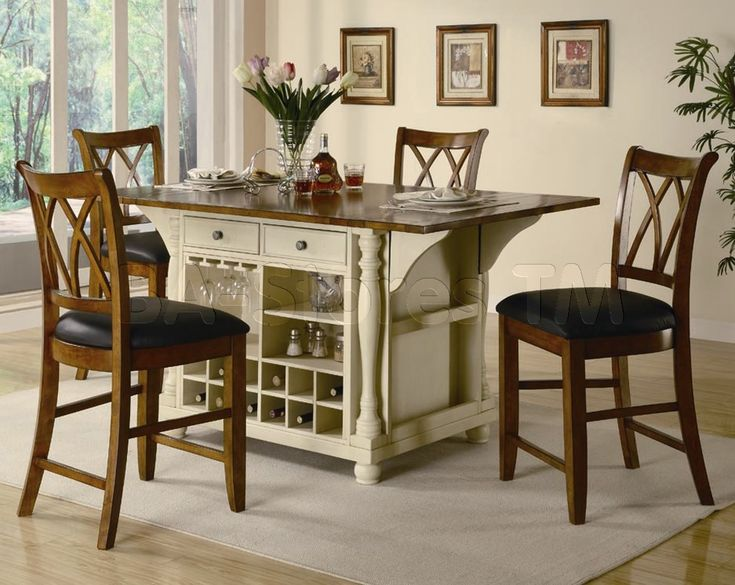 Counter Height Kitchen Island Dining Table