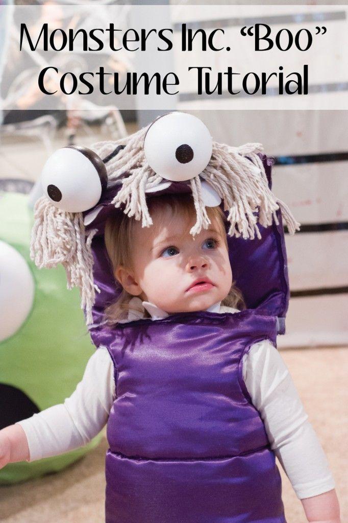 "Monsters Inc. ""Boo"" Costume DIY Tutorial | Halloween Homemade Costumes Monsters Inc | www.manionamor.com"