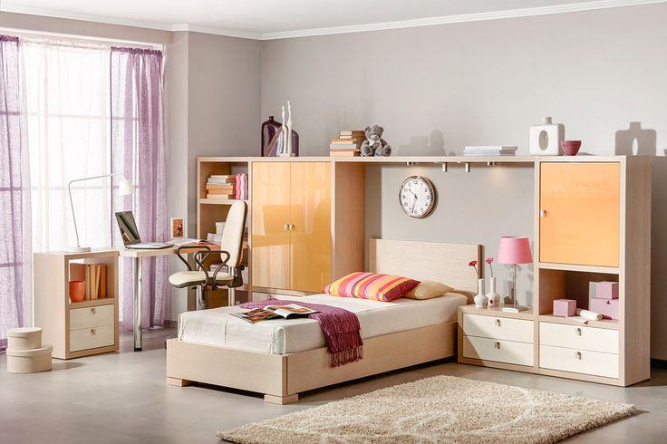 Интерьер небольшой подростковой комнаты | Дизайн интерьера современной детской #астрон #мебель #astron #подростковые #детские