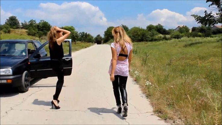Hot girls street dance in high heels and wetlook leggings - #Hotgirls #streetdance #girlsdance #highheels #Roaddance