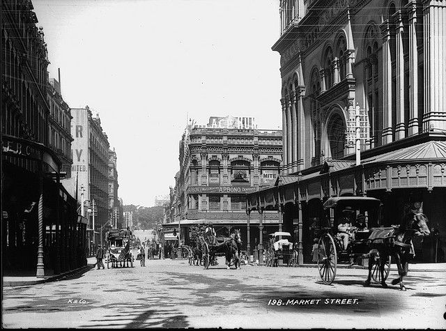 Market Street, Sydney circa 1900