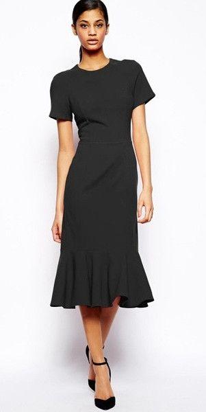 Modest below the knee dress for tall women stylish trendy | Mode-sty tznius fashionable jewish christian mormon lds