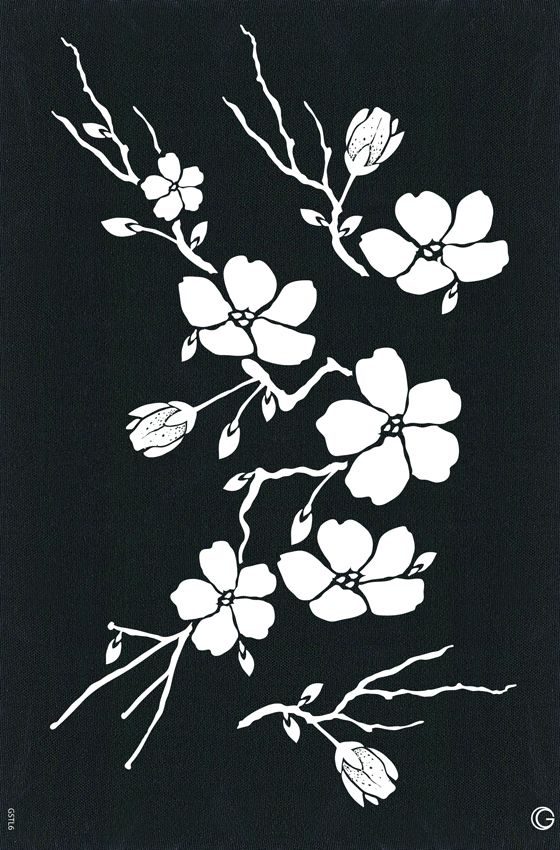 cherry blossom stencil - Google Search
