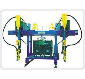 """JLH Gantry type submerged arc welding machine: This JLH Gantry type submerged arc welding machine can be applied in Box-shaped column production line. It can replace the cantilever submerged arc welding machine by using the carbon dioxide to welding the base. You can choose a unipolar or multipolar welding as the truss welding machine has high working efficiency. Moreover, according to different customer requirements, we have researched and developed replaceable welding gun parts for the """"H""""…"""
