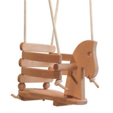 Houten Schommel paard – Happy2Play voor de allerkleinsten