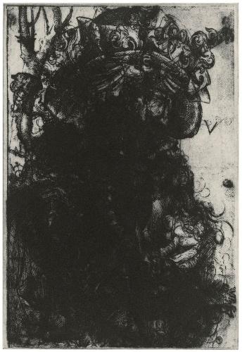 Shop - Glenn Brown - Layered Portrait (after Urs Graf) 1 - Gagosian Gallery