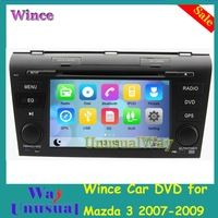 Free Shipping Wince 6.0 Car DVD GPS for Mazda 3 2007 2008 2009 With 8G SD Card GPS Navigation BT Map 800*480 Auto Radio
