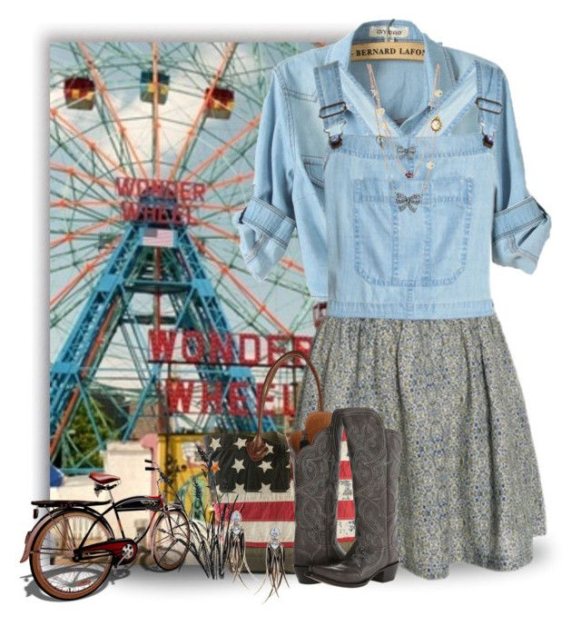 """""""County Fair Days"""" by jackie22 ❤ liked on Polyvore featuring Denim & Supply by Ralph Lauren, Lucchese, Katie Rowland and Betsey Johnson"""