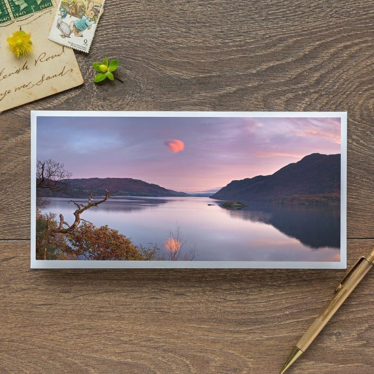 Single Blank Card by landscape photographer Nina K Claridge – Wandered Lonely as a Cloud at Ullswater