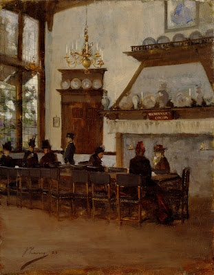 The Dutch Cocoa House at the Glasgow International Exhibition of 1888 -- Sir John Lavery