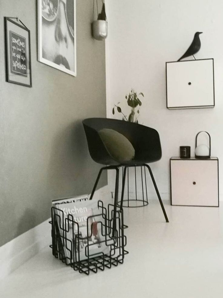 Block Basket storage unit in black photo by camillaathena instagram