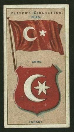 ABD'den çıkan görülmemiş Osmanlı fotoğrafları-1912 yılı Türk Bayrağı ve arması