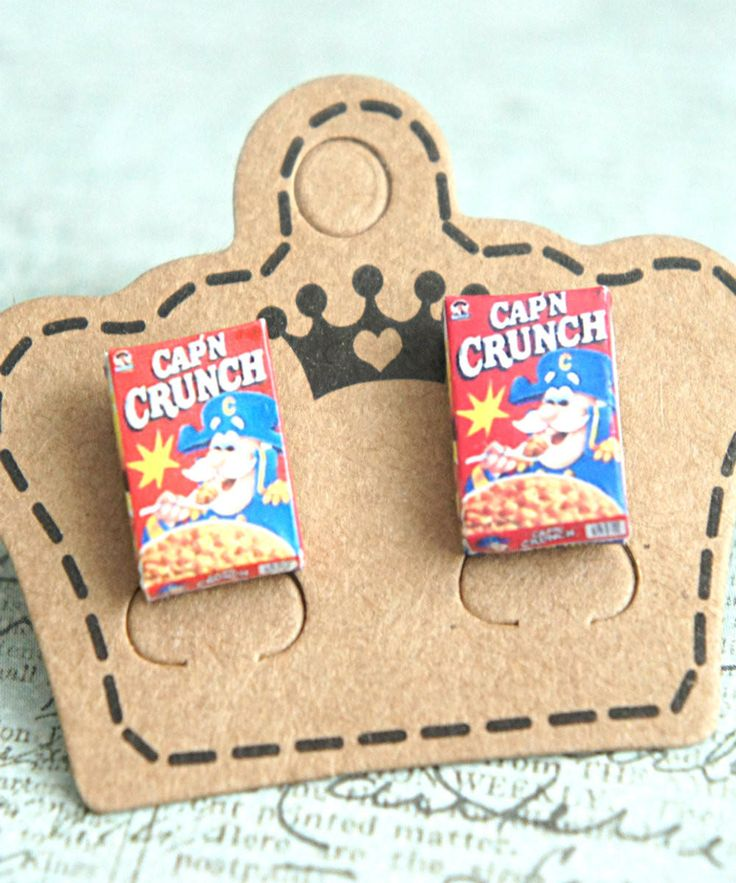 captain crunch cereals earrings from Jillicious. Saved to www.jilliciouscharms.com.