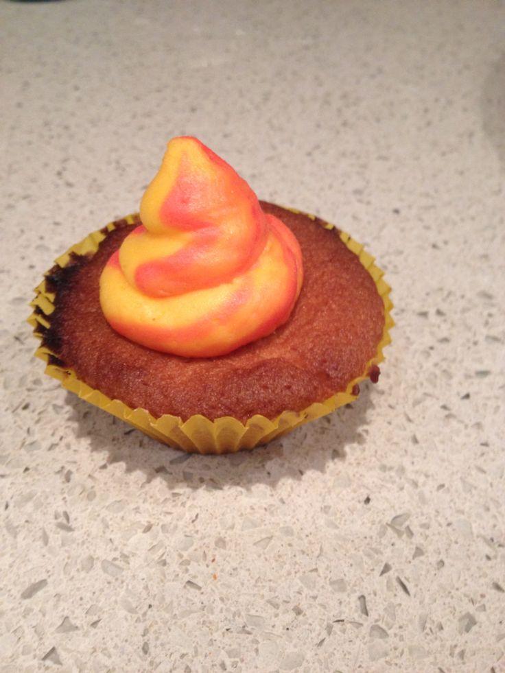Starburst summer cupcake