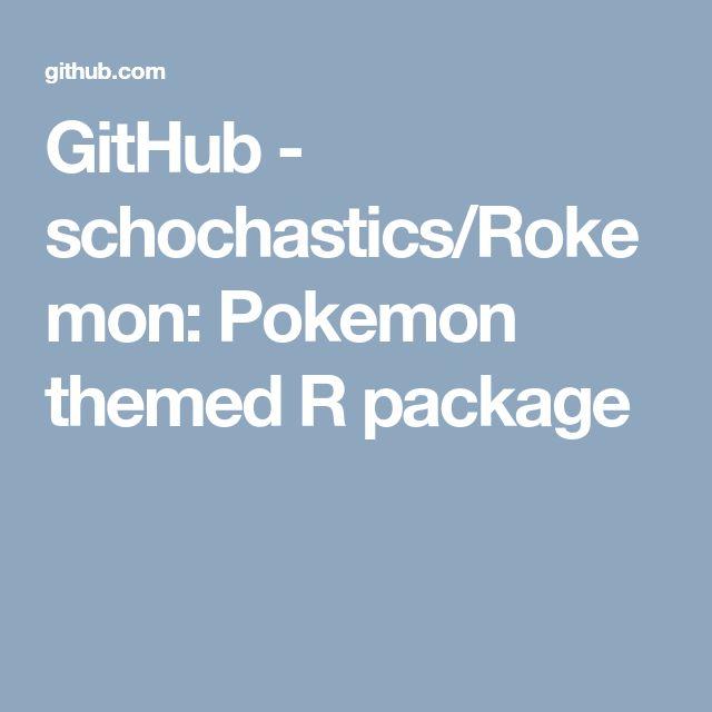 GitHub - schochastics/Rokemon: Pokemon themed R package | ggplot2