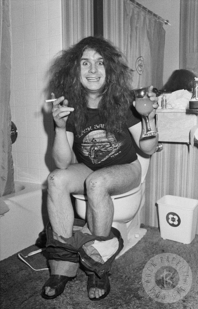 Ozzie Osbourne of Black Sabbath.
