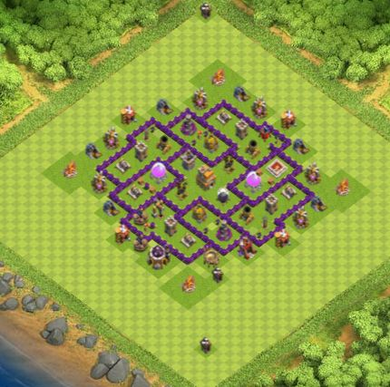 Town Hall 7 Farming Base Clash Of Clans | Update 2017