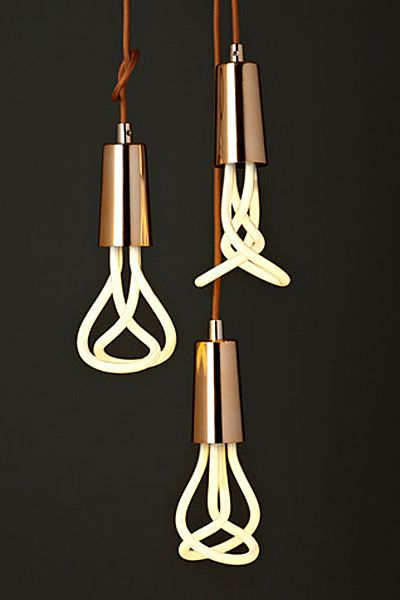 copper pendant light- playful