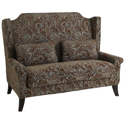 Could use with rectangular or square kitchen table.  Pier 1: Headington Loveseat - Paisley Brown