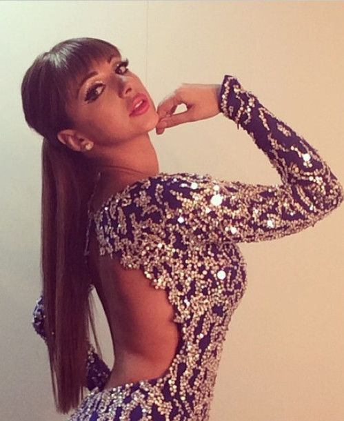 dress myriam fares maxi dress myriam fares long sleeves sparkle glitter
