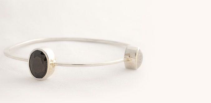 Order it here http://goo.gl/4PhKTb Passion 3B - Handmade Silver Bracelet Material: Silver 925, Black Zircon, Rainbow Moonstone Dimension:Width: 6.5 cm Weight:15.50 gram Price:$ 50.00 In Stock : 2 pcs left